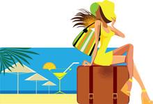 Resort, Vector Illustration In...