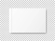 Realistic closed blank book isolated on transparent background. Top view. Mock up template for your design. Blank for graphic, creative, business, education.