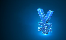 Yen Currency Sign, Digital Neo...