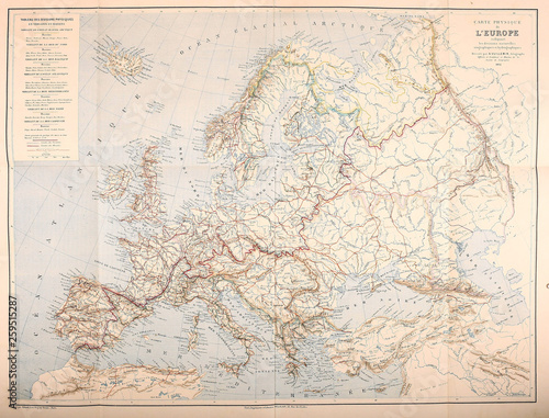 Photo Map of Europe