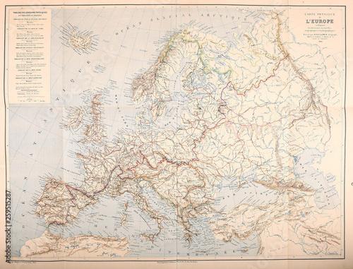 Obraz na plátně Map of Europe