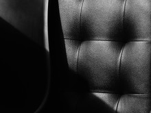 Black And White Leather Of Sofa Texture
