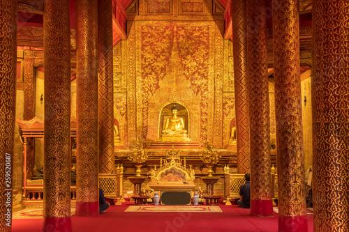 Papel de parede  Phra Singha or Phra Sihing buddha at the royal monastery, Wat Phra Singh Woramah