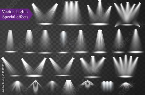 Fotografía  Vector spotlight Light