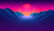 80s Synthwave Styled Landscape...