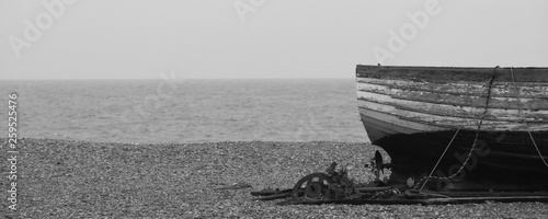 Fototapeta Old fishing boat on the beach at Aldeburgh Suffolk UK