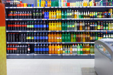Shelves With Variety Refreshing Of Beverage For Sale