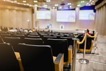 Blurry Of Auditorium For Shareholders' Meeting Or Seminar Event