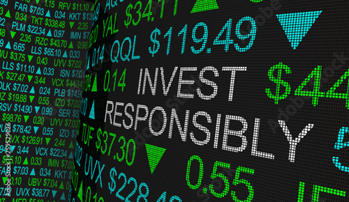 Foto  Invest Responsibly Ethical Investing Moral Stock Investment 3d Illustration
