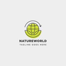Leaf Planet Nature Simple Logo...