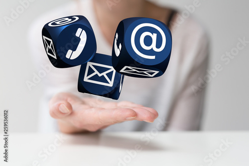 Fototapety, obrazy: contact Besprechung -Kompetenz Beratung-, Service- und Marketingbereich