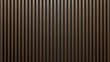 Elegant background of wooden slats over dark wall. Mahogany sheets.