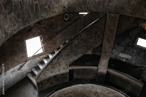 Spiral stairs in a Wizard's tower. Canvas Print