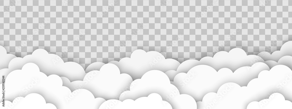 Fototapety, obrazy: Clouds on transparent background