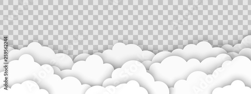 Fototapeta Clouds on transparent background obraz
