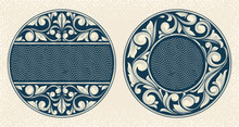 Vintage Decorative Floral Design Elements