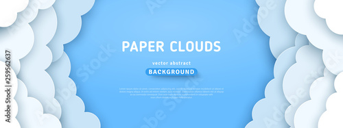 Papel de parede Clouds on blue sky border