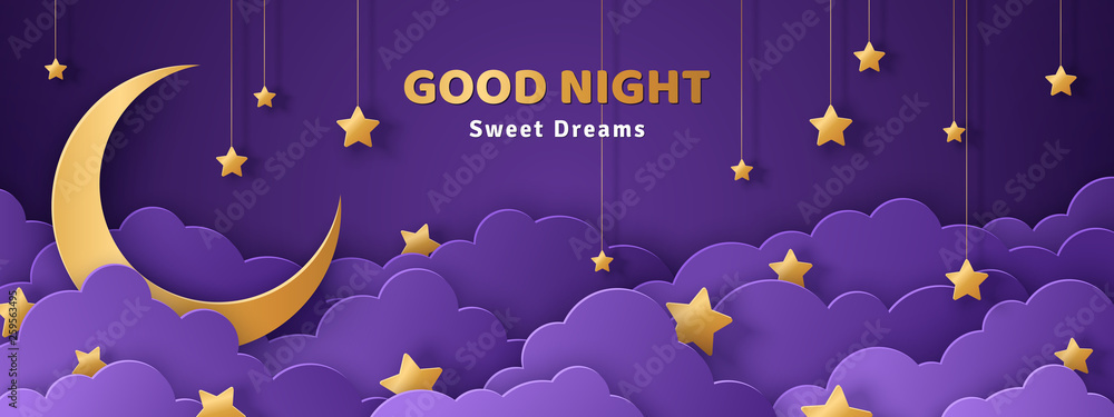 Fototapety, obrazy: Good night and sweet dreams banner