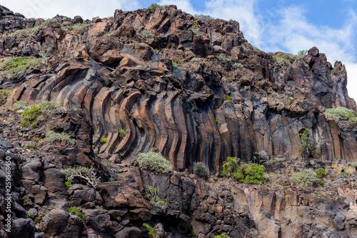 Papiers peints Iles Canaries Basaltic rocks at La Gomera, Canary Islands. Spain