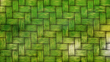 Green Woven Bamboo Texture Background