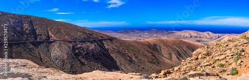 Impressive landscapes of volcanic Fuerteventura. Viewpoint Betancuria Mirador Las Penitas . Canary islands
