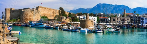 Landmarks of Cyprus island - medieval Kyrenia town (turkish part)