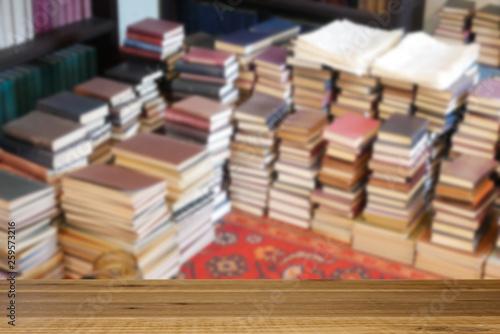 Fotografie, Obraz 床に置かれた大量の本