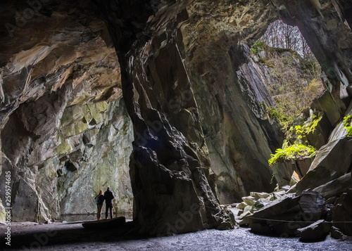 Fototapeta Cathedral Cave in the Lake District