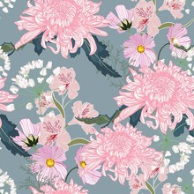 Seamless Floral Pattern. Pink ...