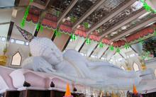 Udon Thani, Thailand  The Biggest White Marble Nirvana Buddha At Wat Pa Phu Kon, Udon Thani Thailand