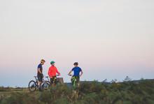 Mountain Bike Riding Friends O...