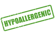 Hypoallergenic Rectangle Rubber Stamp