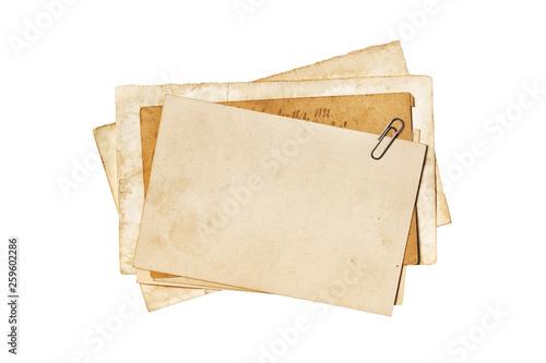 Fotografie, Obraz Blank old yellowed paper mockup for vintage photos or postcards