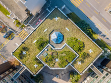 Aerial View Of Rooftop Garden ...