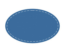 Oval Textile Patch