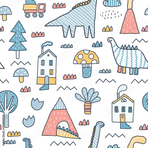 dziecinny-wzor-budynki