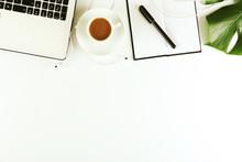 Female Blog Writer Workspace C...