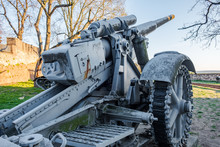Old Artillery Gun Displayed Ou...