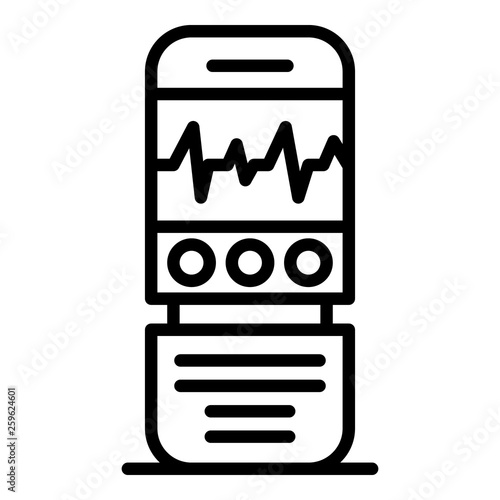 Digital dictaphone icon Fototapet
