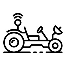 Moon Rover Icon. Outline Moon ...