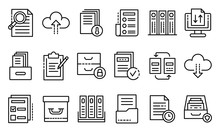 Archive Icons Set. Outline Set...