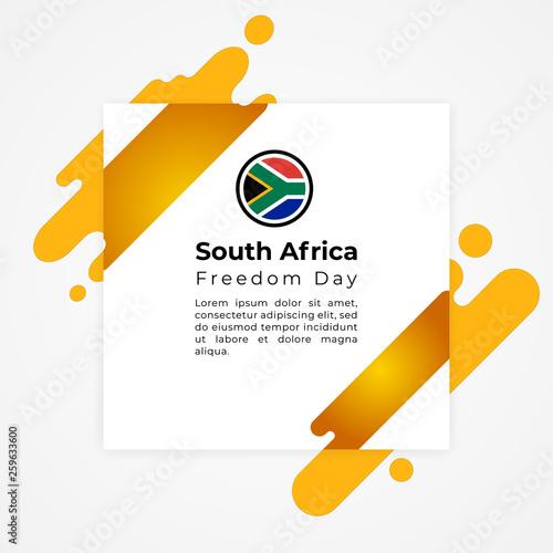 Fotografia  Happy Republic of South Africa Freedom Day Vector Template Design Illustration