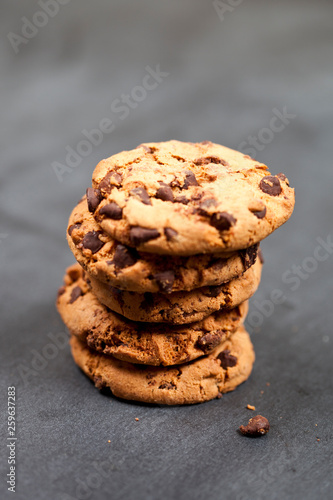 Fresh baked chokolate cookies