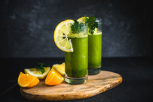 Fresh Green Juice Made From Pa...