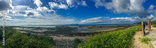 view of sea from Isle of Arran, Scotland, United Kingdom Canvas Print