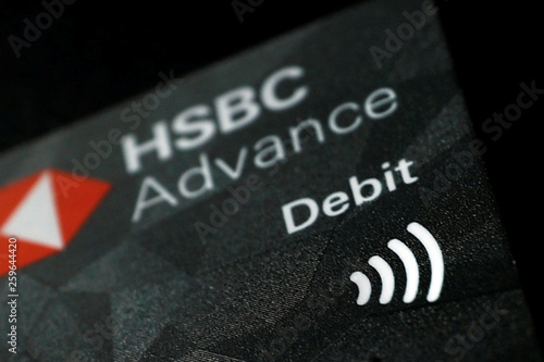 Wifi signal icon on a debit card is seen in this picture