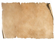 canvas print picture - Old worn paper sheet isolated on white