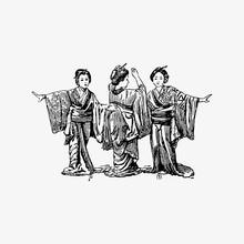 Three Geishas Dancing