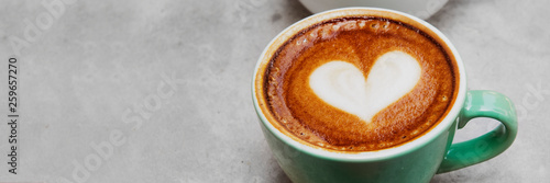 Love coffee latte art Poster Mural XXL