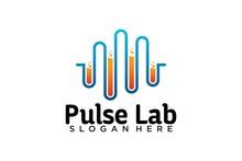 Pulse Lab Logo Design Template